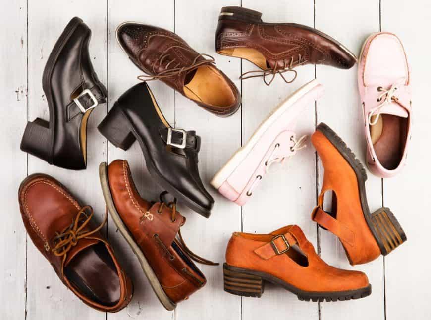 Pairs of unisex footwear