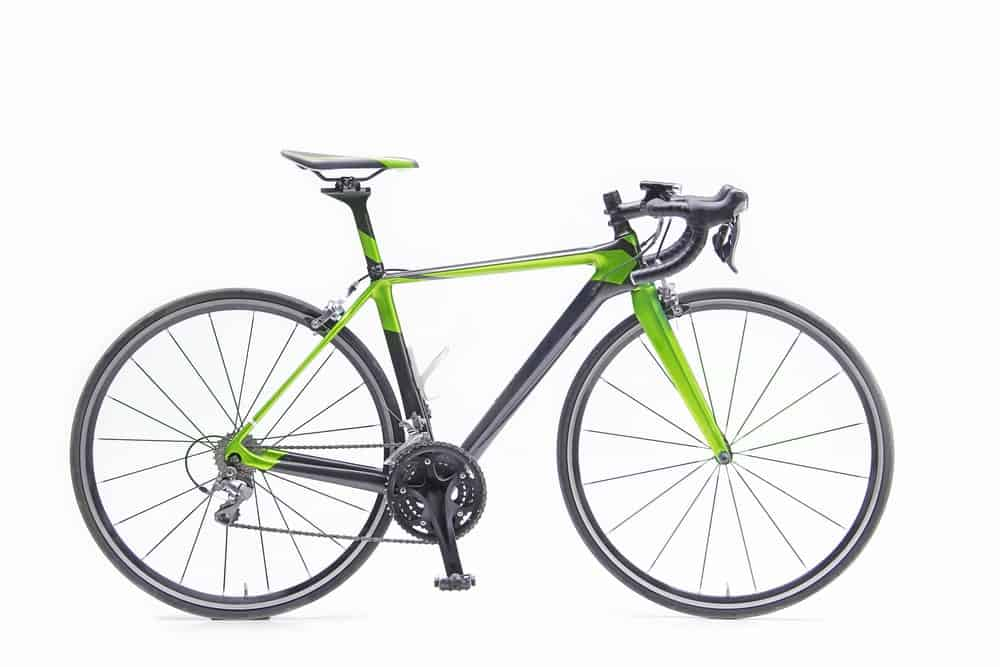 A Black and Green Road Bike