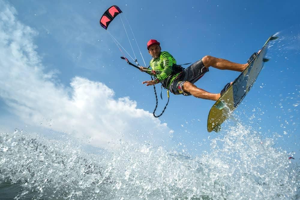 Kitesurfing enthusiast