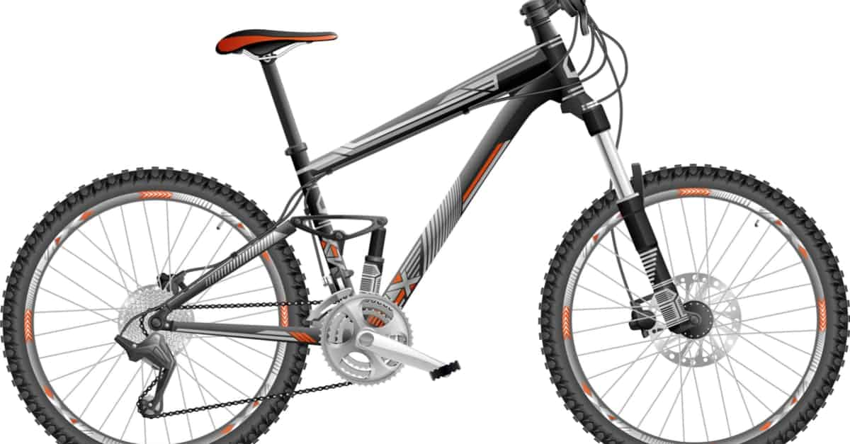 A Black and Orange Mountain Bike