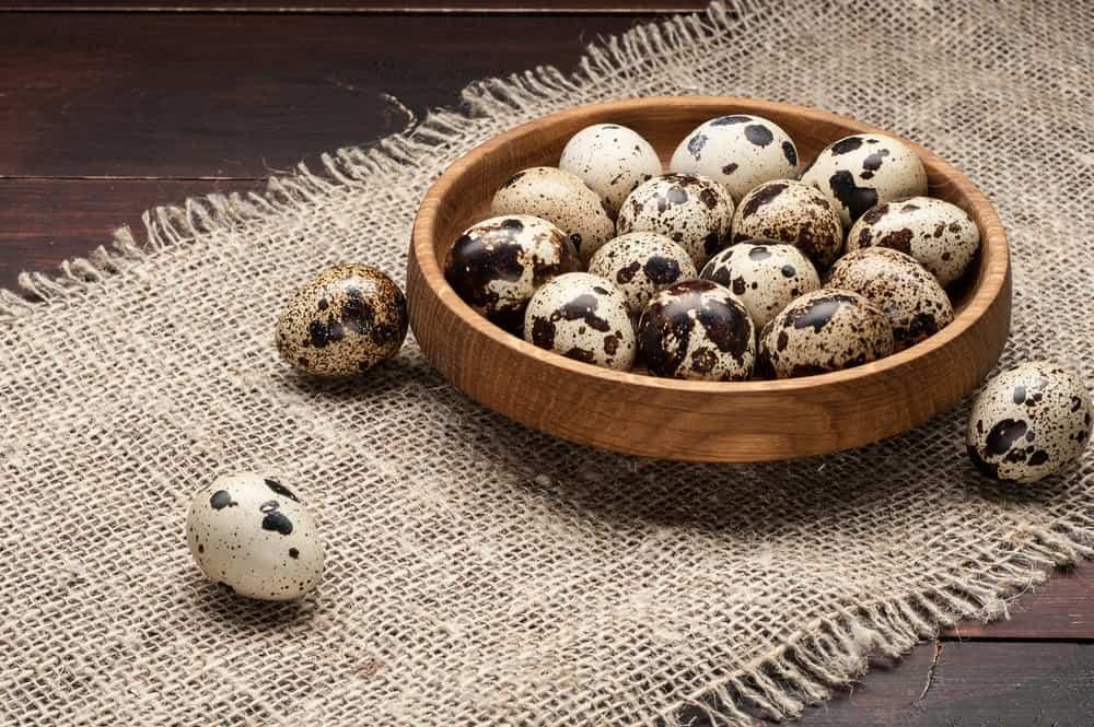 Cherry-sized quail eggs