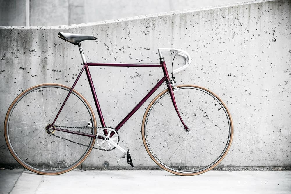 : A Brown Fixed Gear Bicycle