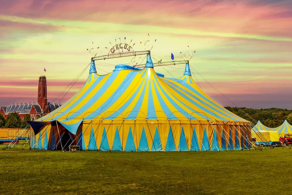 A giant circus tent