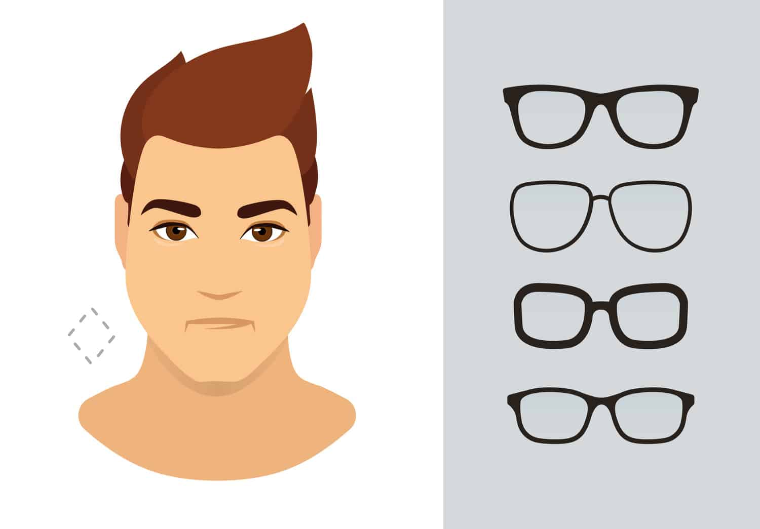 Men's glasses for diamond shaped face