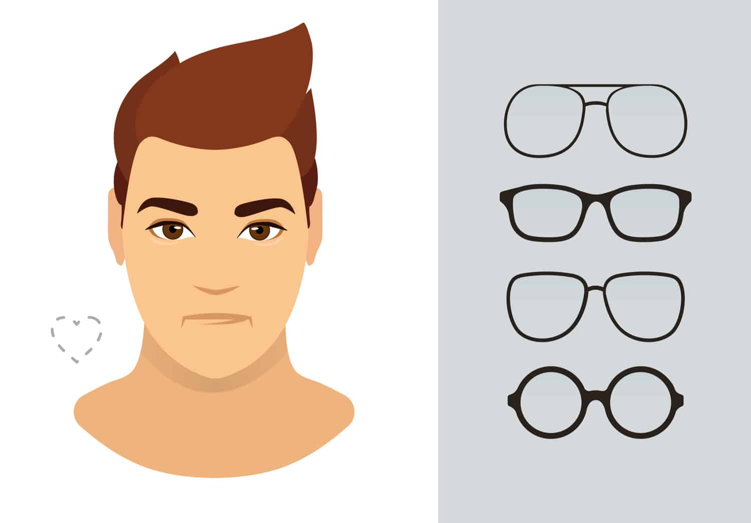 Men's glasses for heart-shaped face