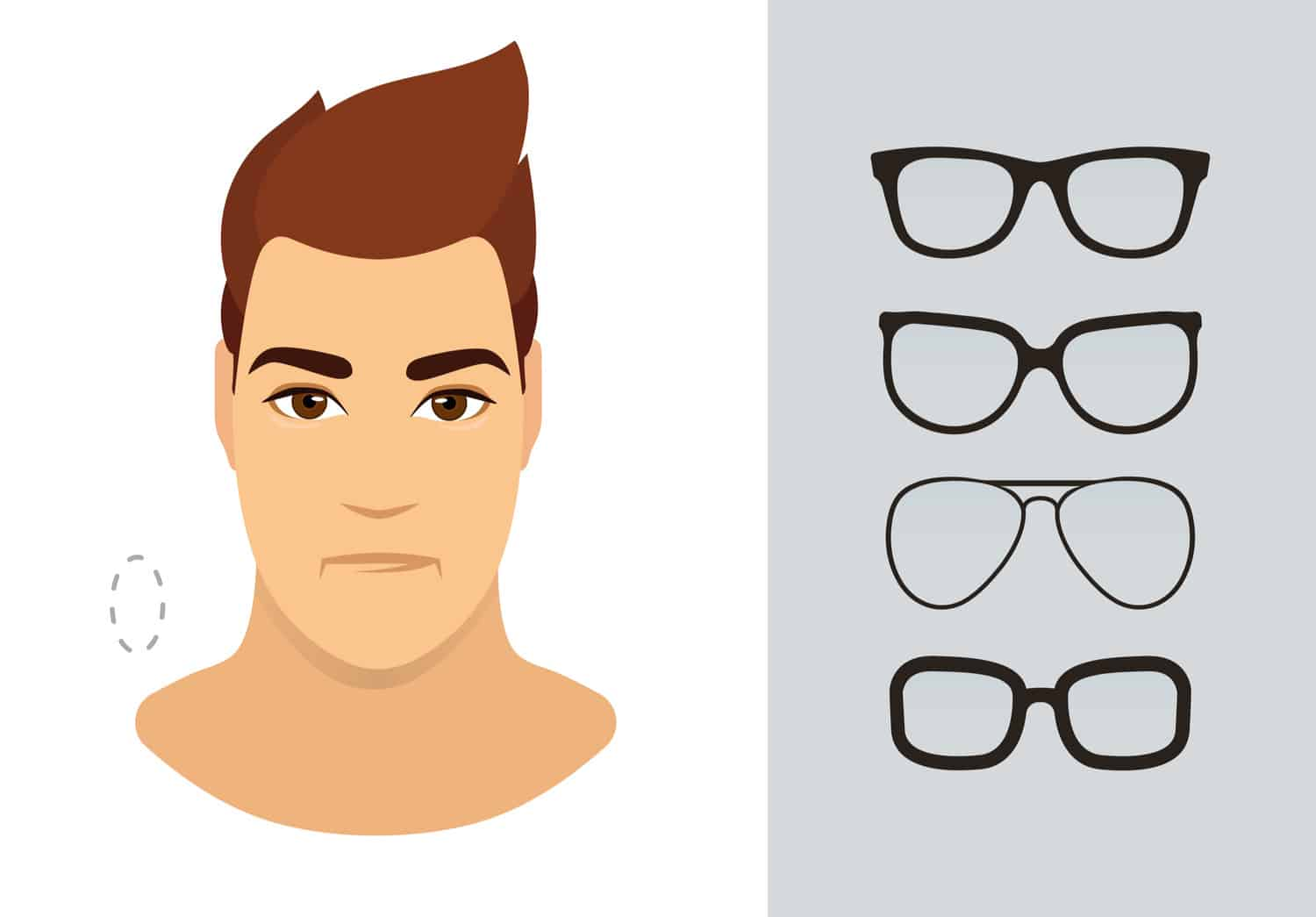 Men's glasses for oblong shaped face