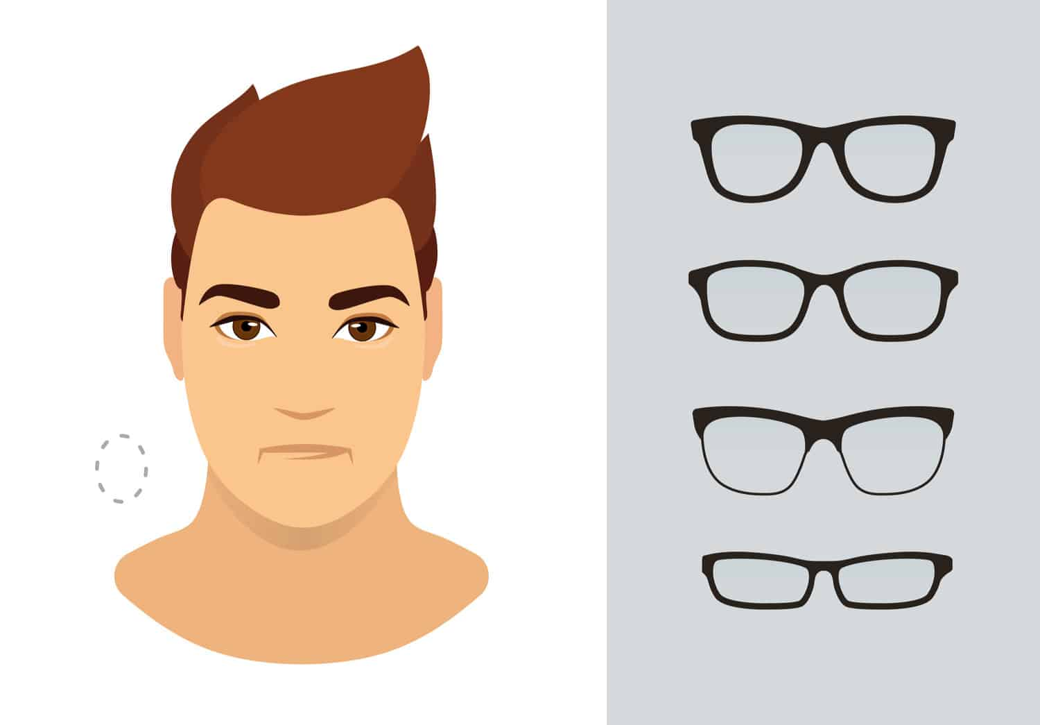 Men's glasses for oval face shape
