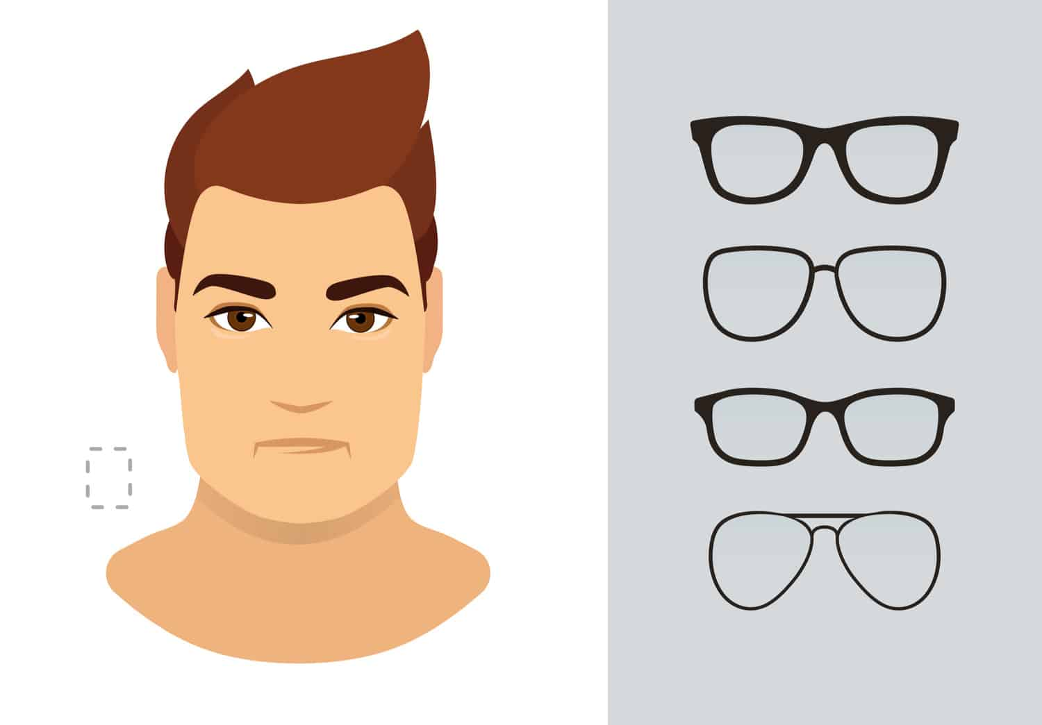 Men's glasses for rectangle shaped face