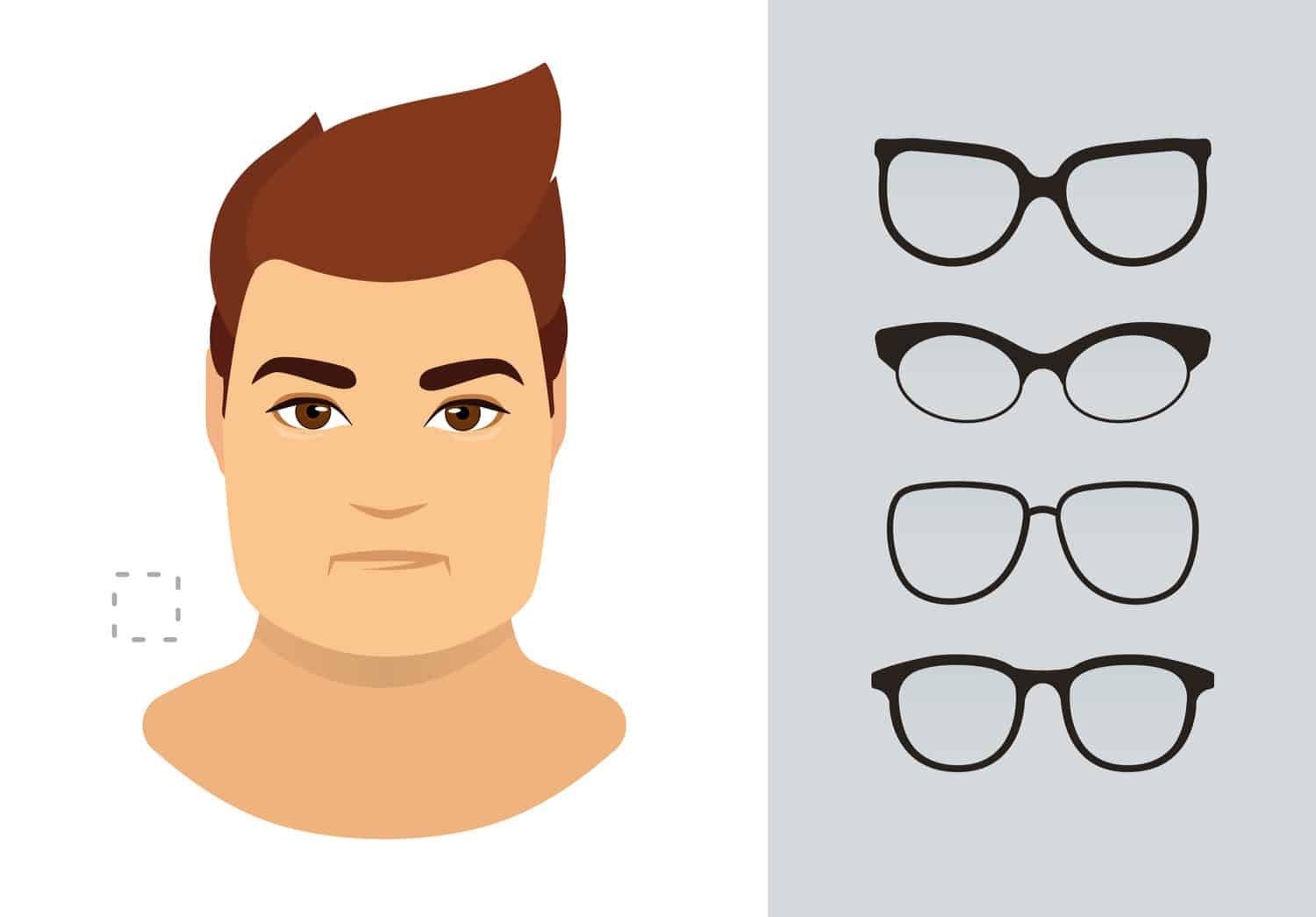 Men's glasses for square shaped face