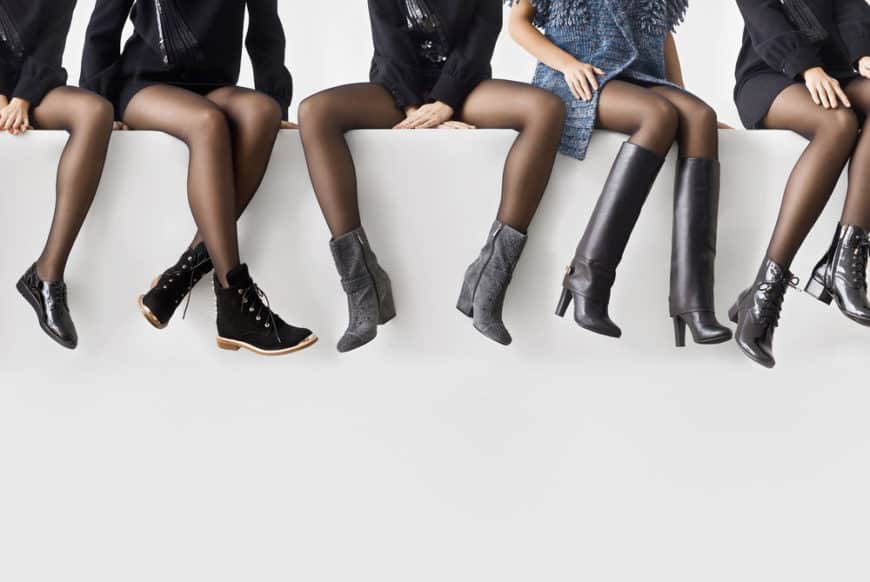 Women with different types of boots