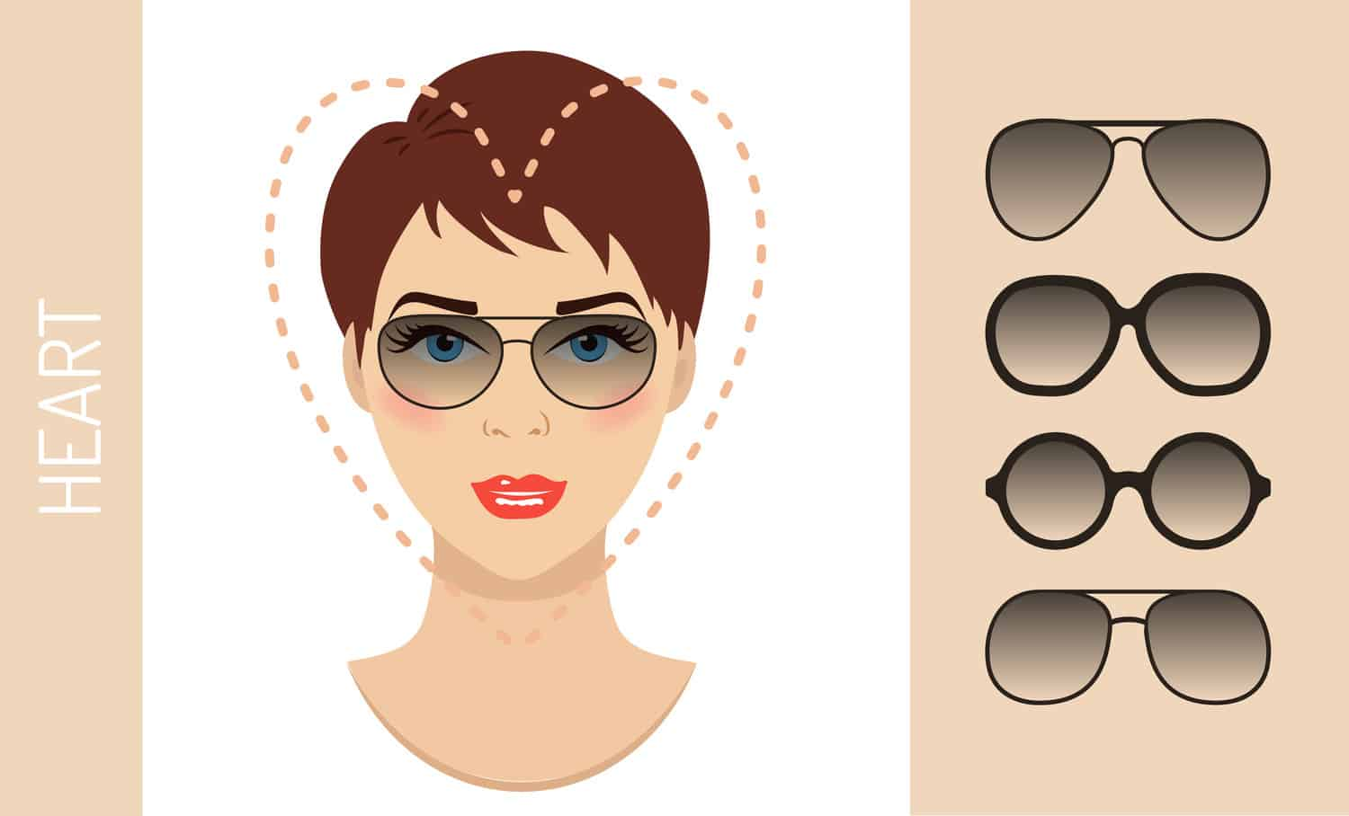 Women's glasses for heart shaped face