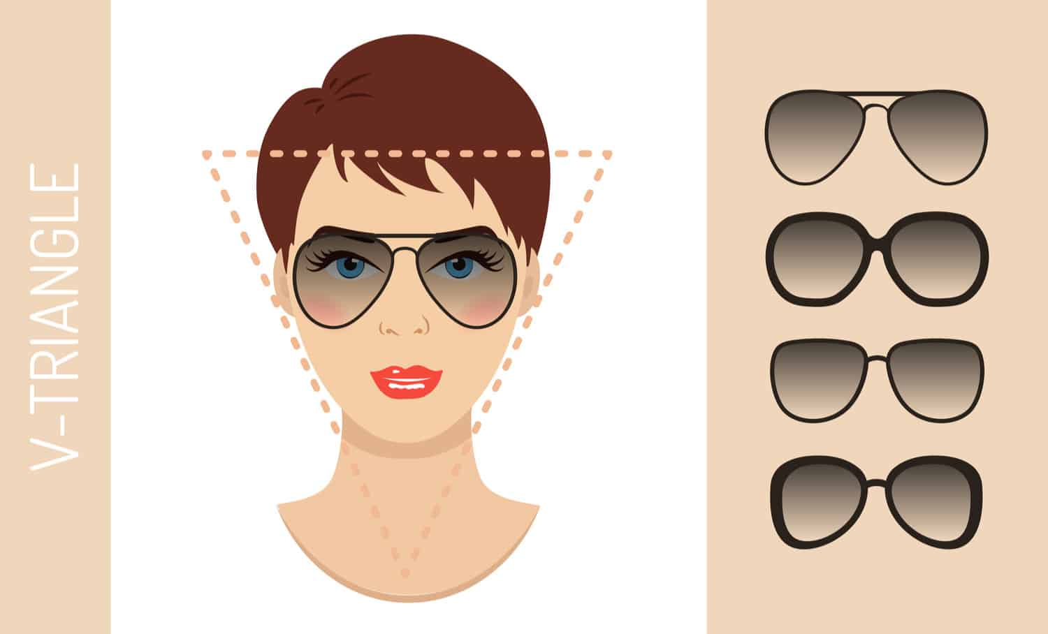 Women's glasses for inverted triangle face shape
