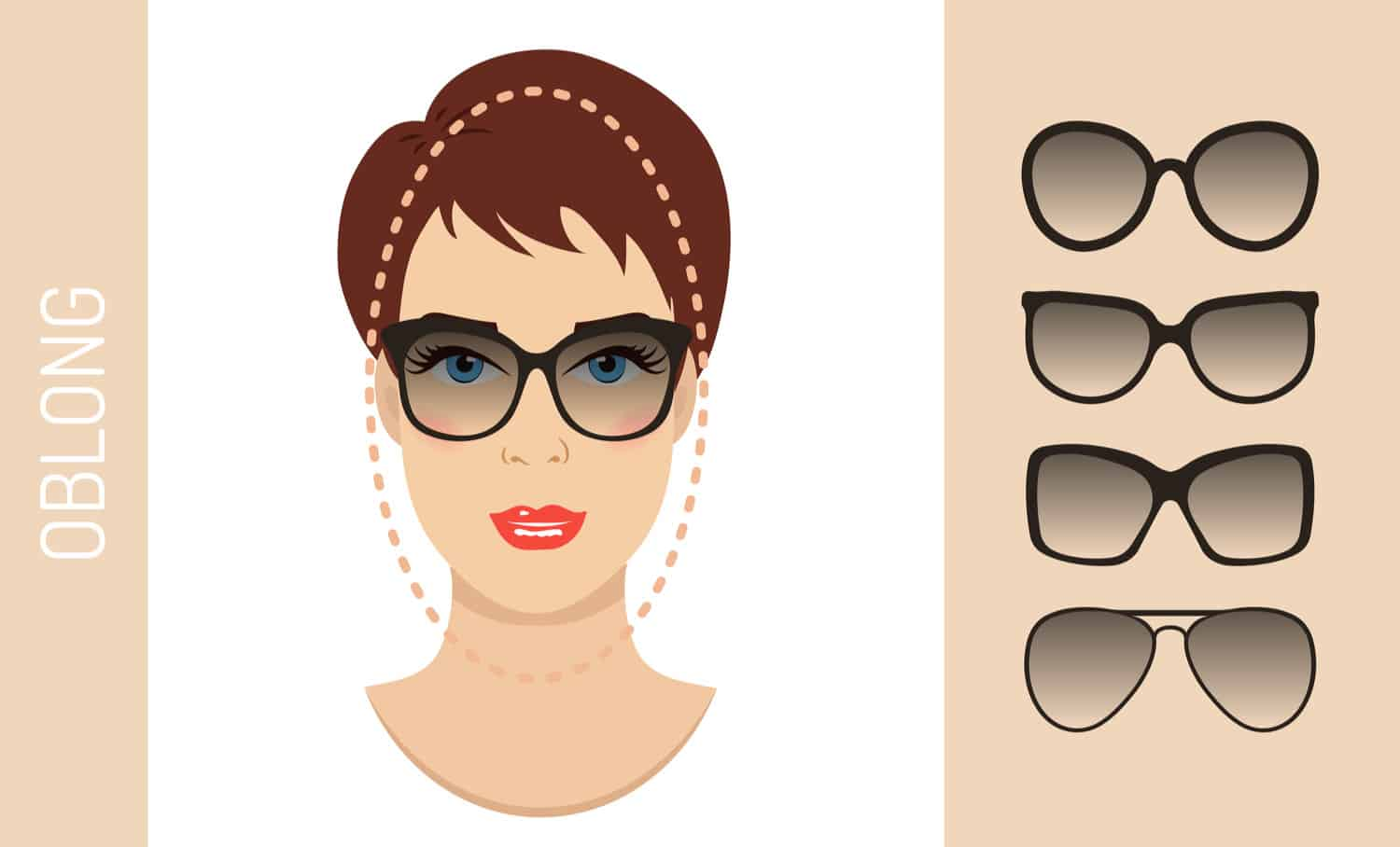 Women's glasses for oblong face shape