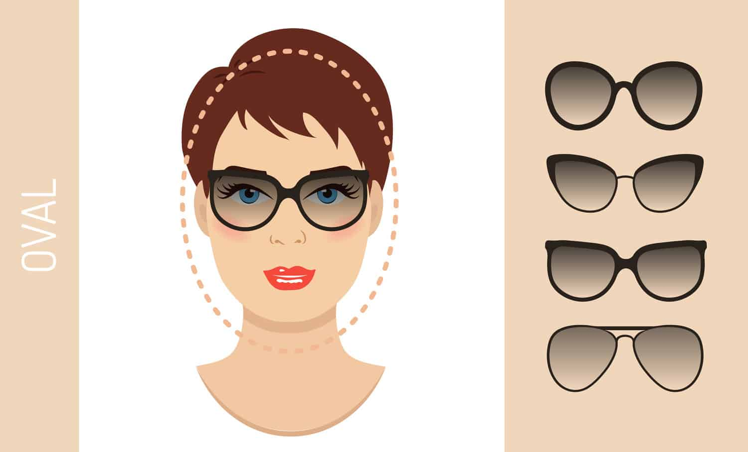 Women's glasses for oval shaped face