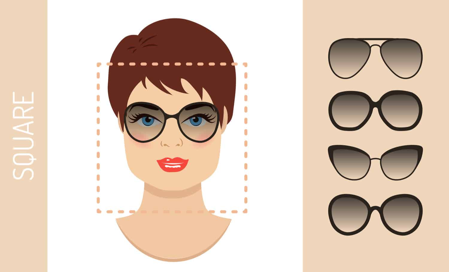 Women's glasses for square shape face
