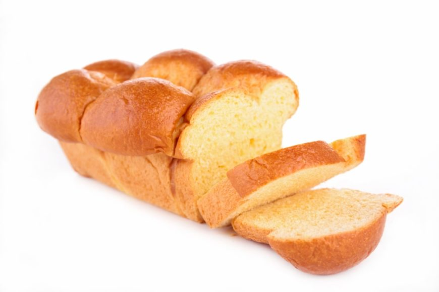 Sliced Brioche Bread