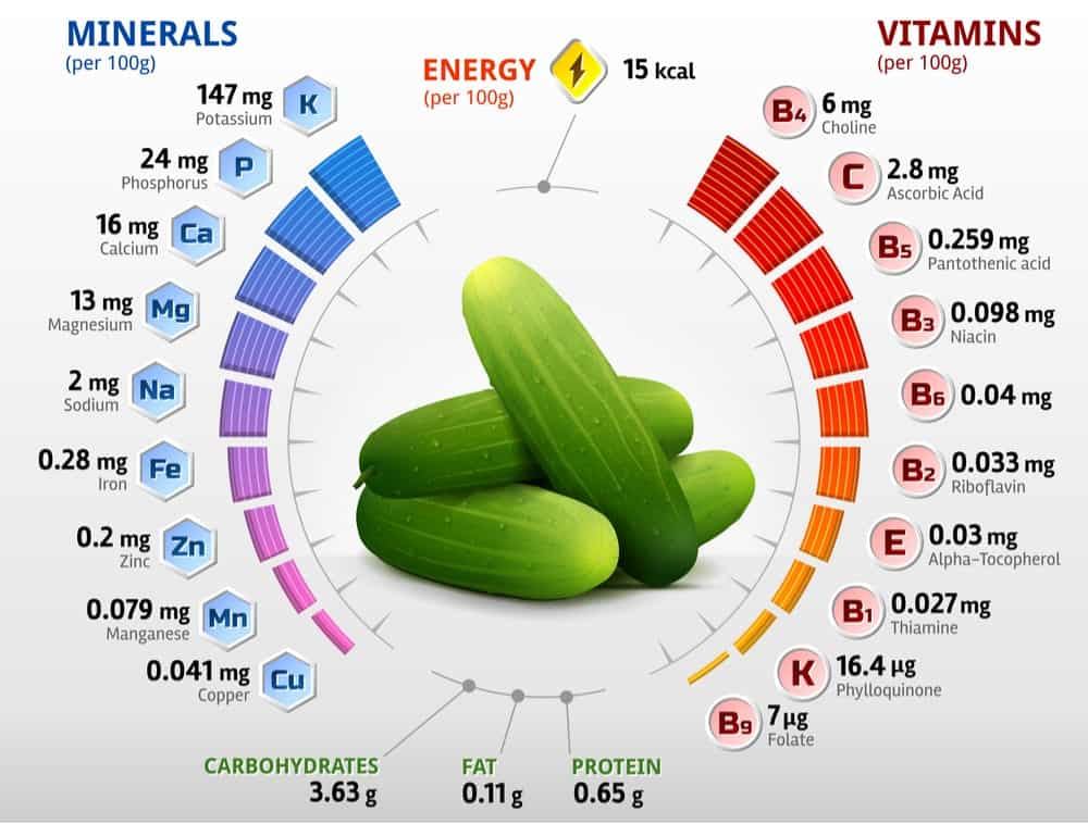 Cucumbers Nutrition Facts Chart
