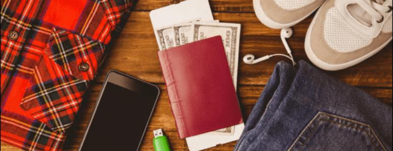 Boarding Pass and Money inside a Passport