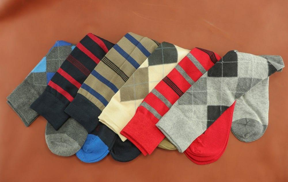 Deiiferent designs for mens socks