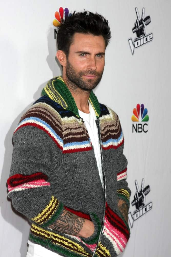 Adam Levine in a Multi-Colored Jacket