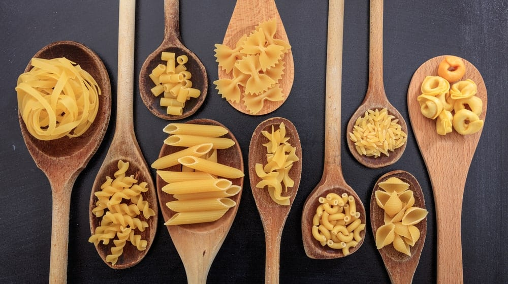 Various shapes of pasta