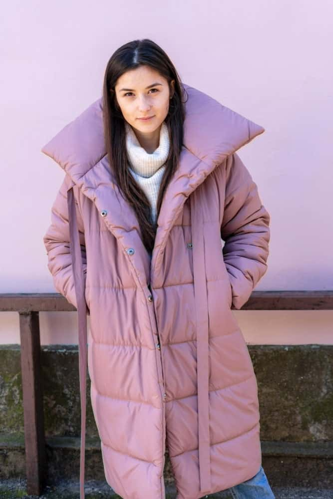 A Girl with a Lovely Puffer Jacket