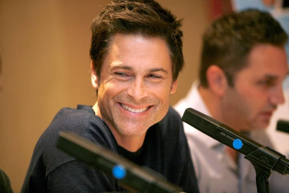 Rob Lowe at a conference
