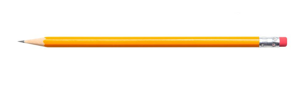 Yellow Pencil on White Background