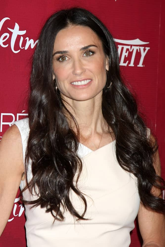 Demi Moore Wearing a Beautiful White Dress