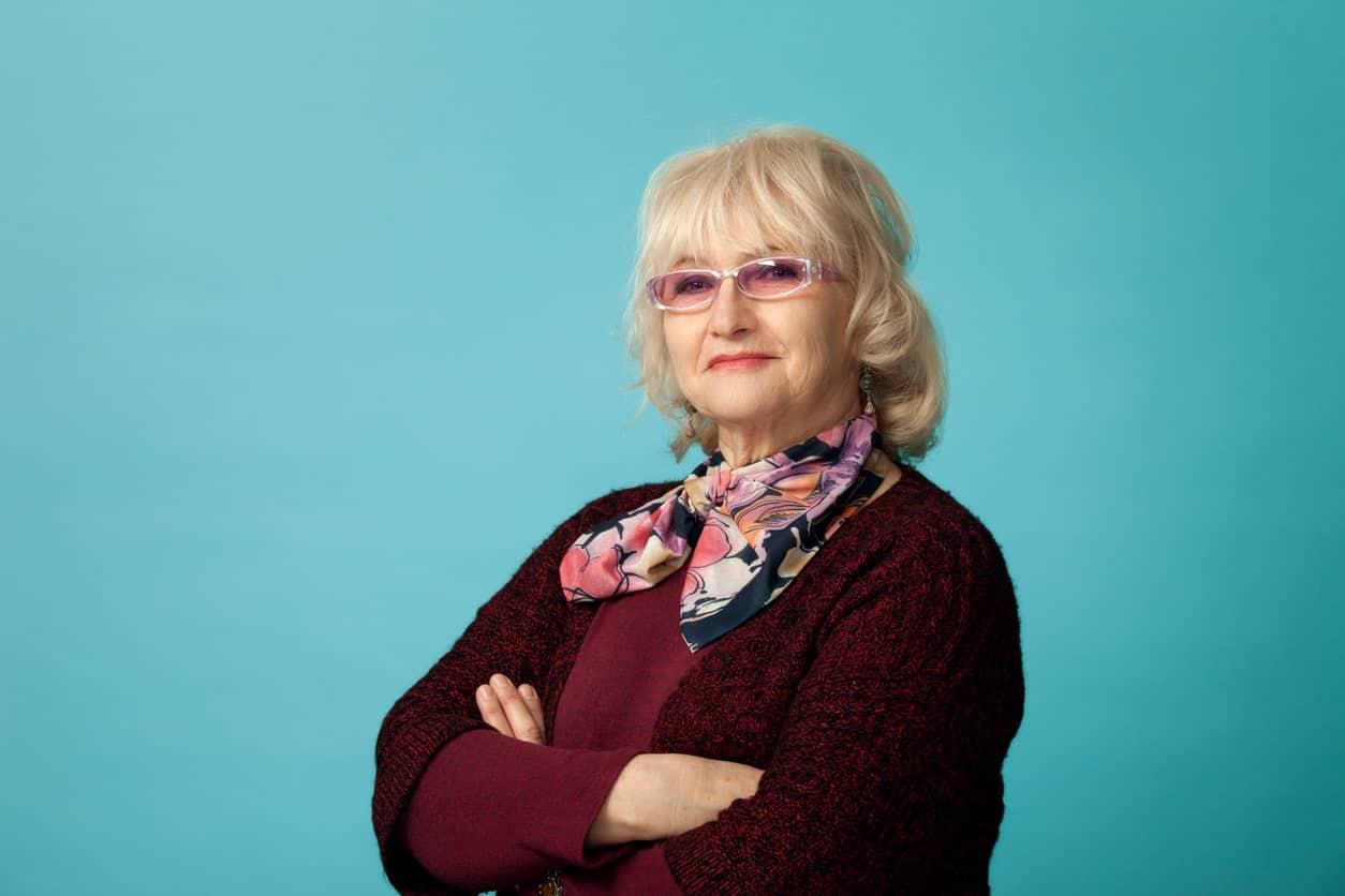 Grandma wearing neckerchief