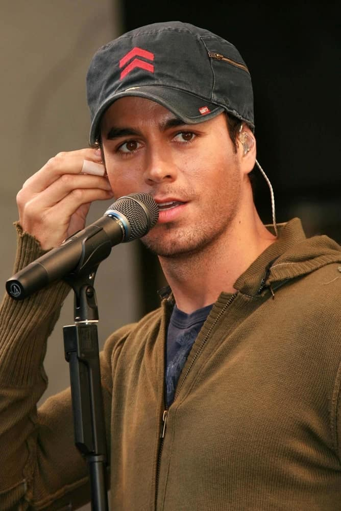 Enrique Iglesias in a Brown Jacket