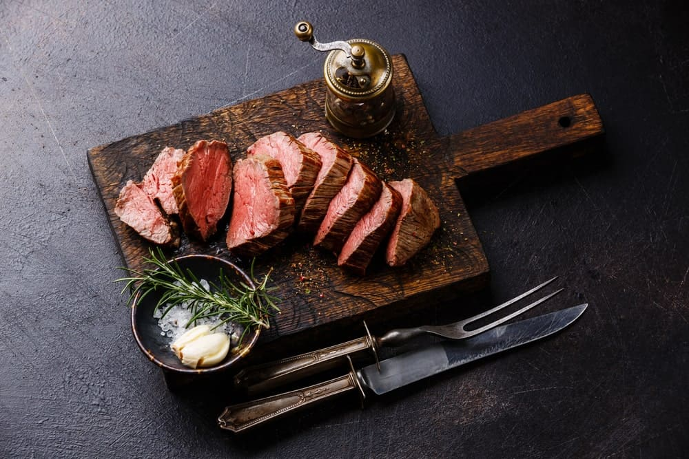 Beef Tenderloin with Garlic and Herbs