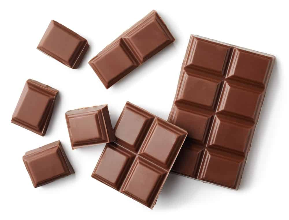 Pieces of Tasty Milk Chocolate