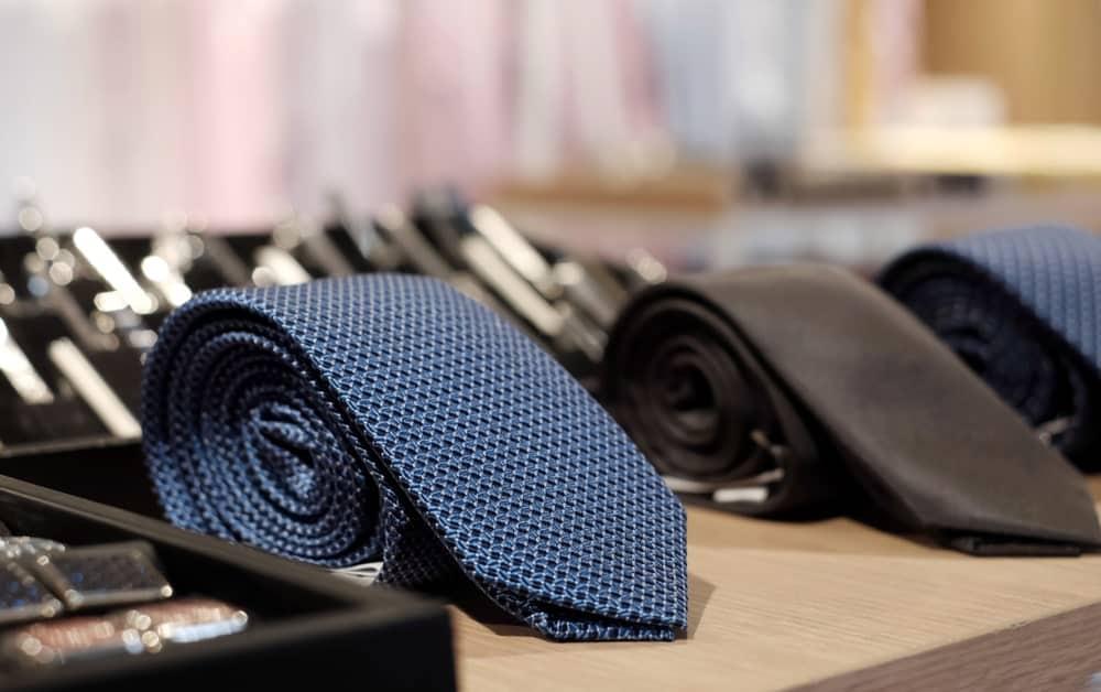 Apron Neckties on display