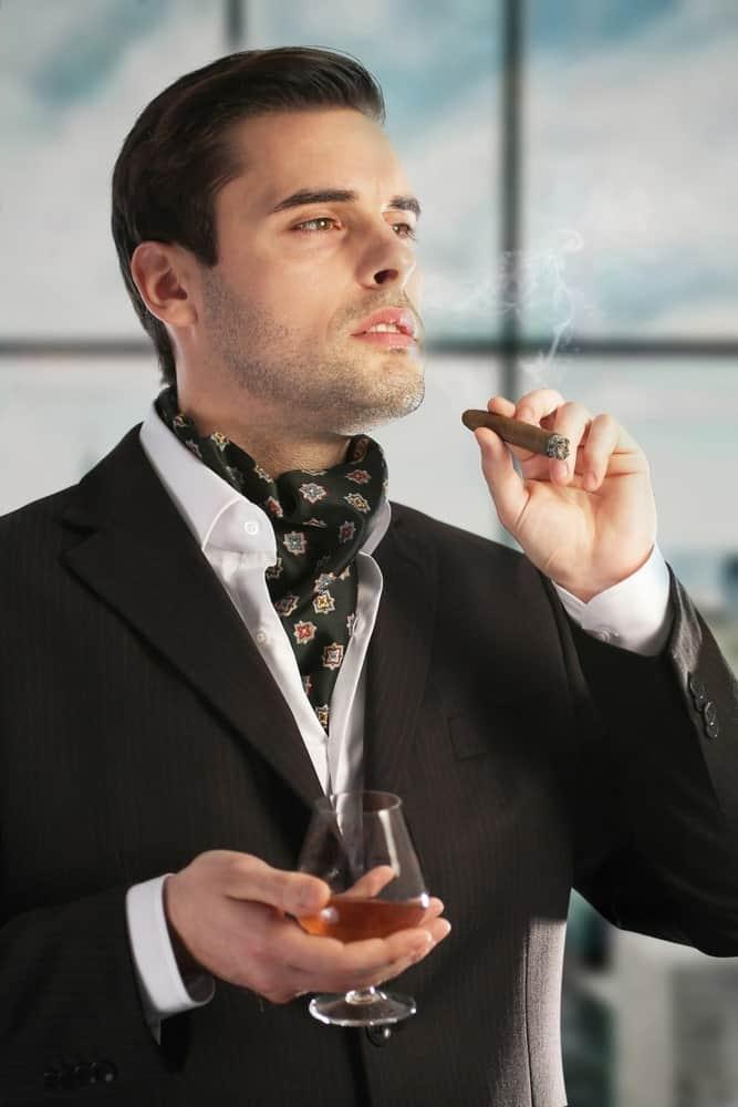 Ascot Tie on a debonair gentleman