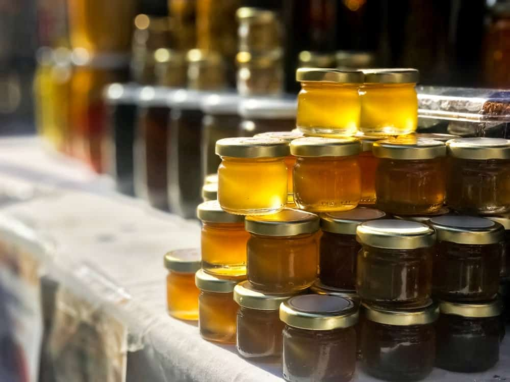Honey in liquid form
