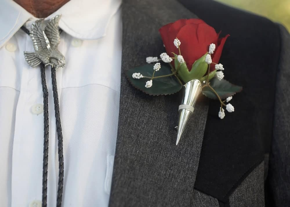 Man wearing Bola Tie at formal event