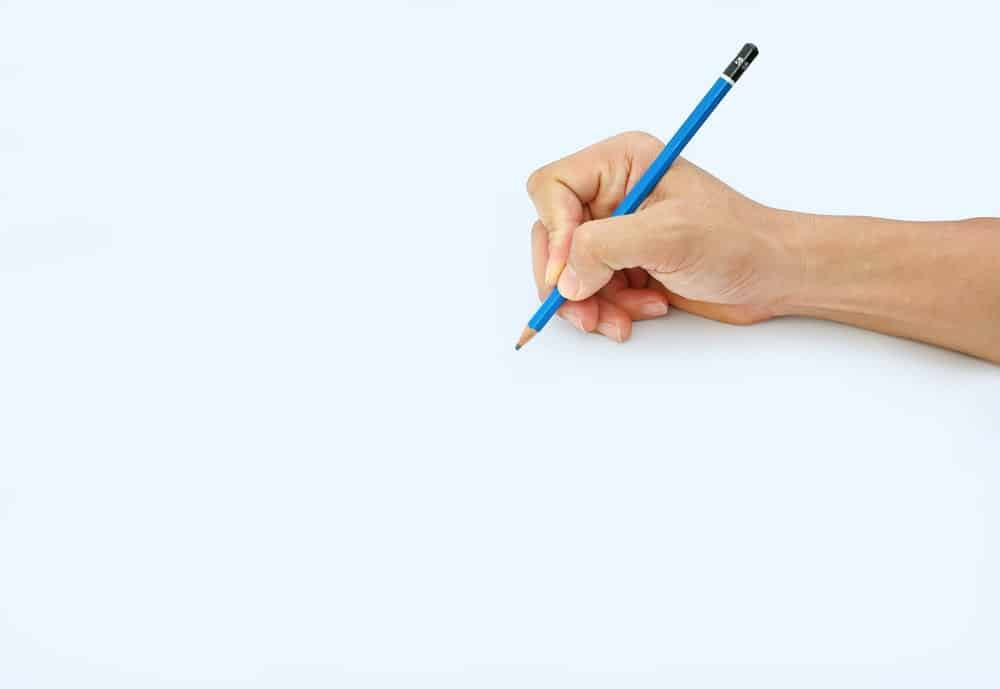 A Blue Pencil on a White Paper