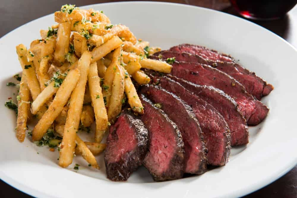 Hanger Steak with French Fries and Herbs