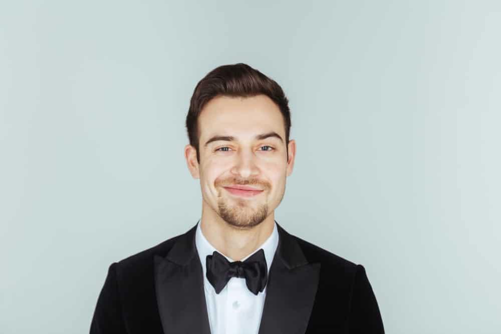 Cravat Necktie worn with a dinner jacket