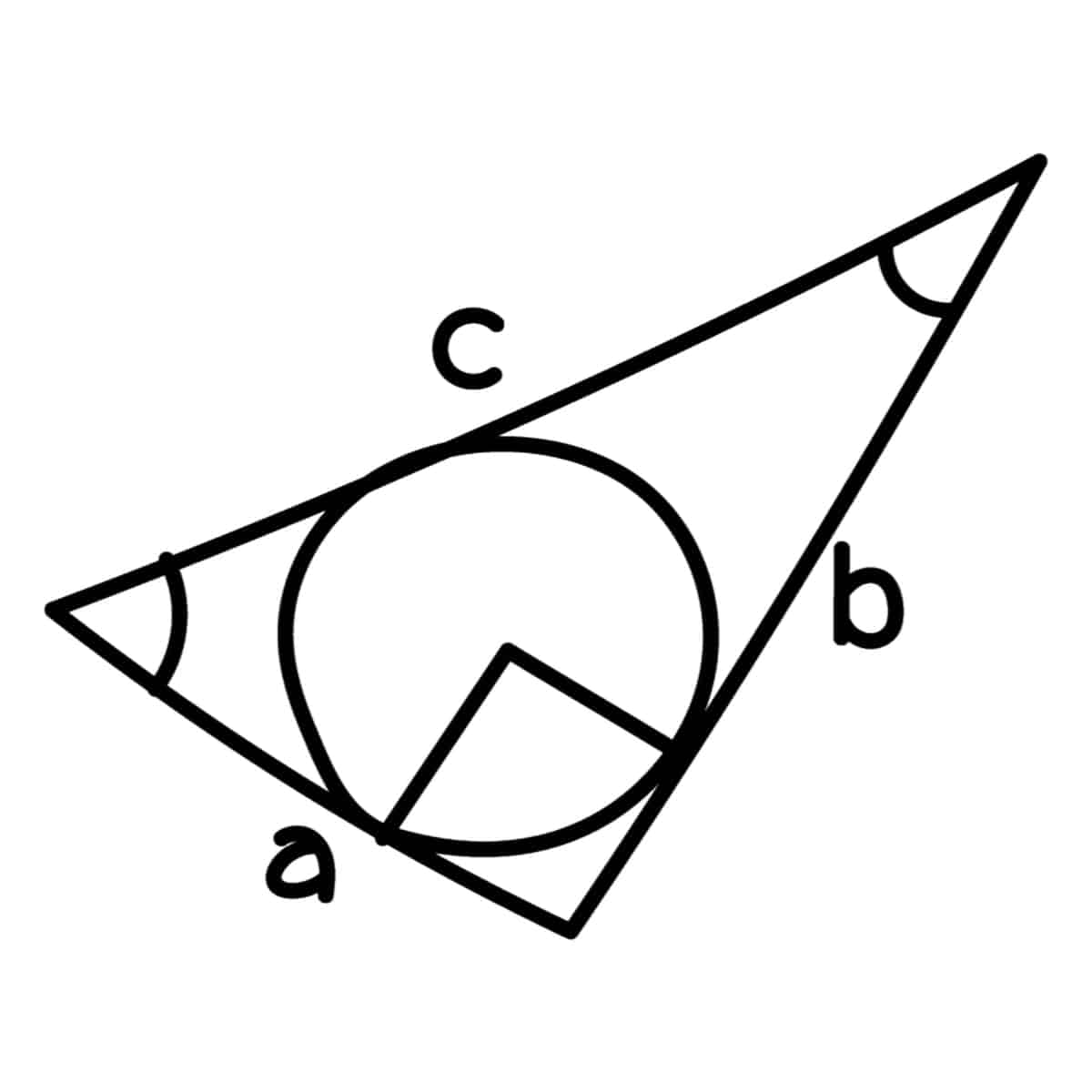 Drawing of a scalene triangle