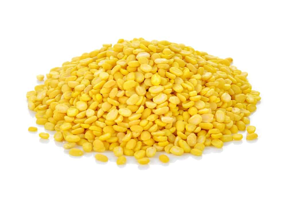 Yellow colored Split Mung Bean