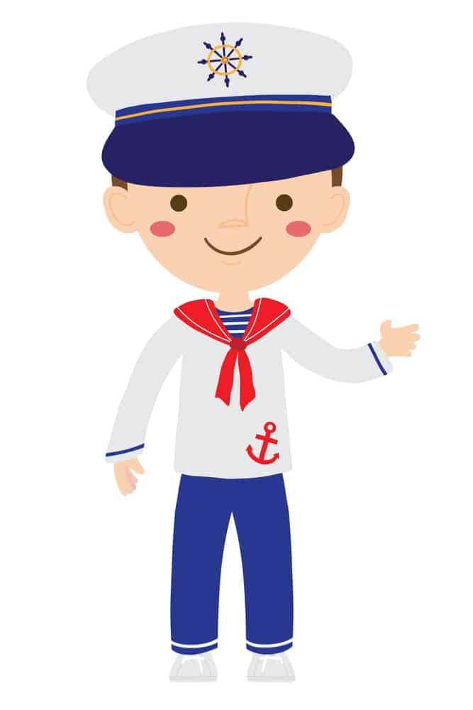 Sailor with a red tie