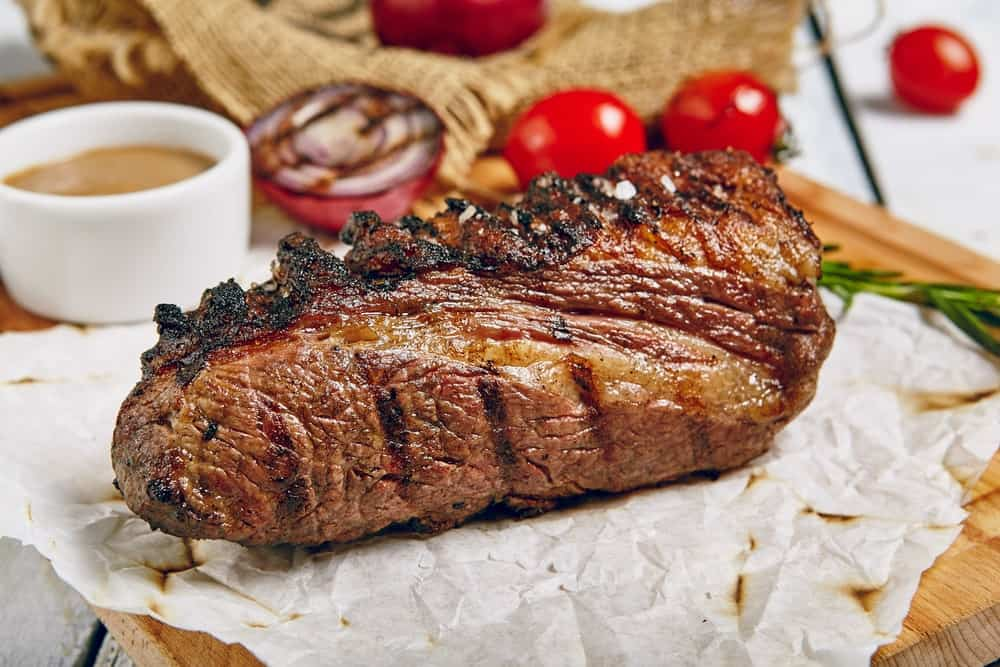 Grilled Tri-tip Steak with Cherry Tomatoes