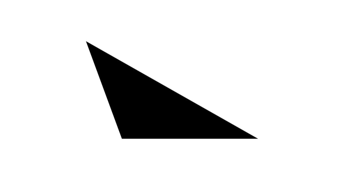 Geometric Figure of Obtuse Triangle