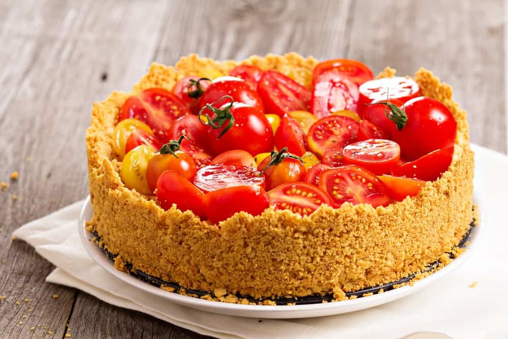 Savory Cheesecake with Tomatoes