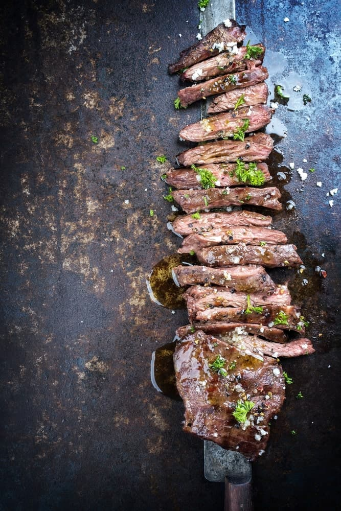 Slices of Skirt Steak