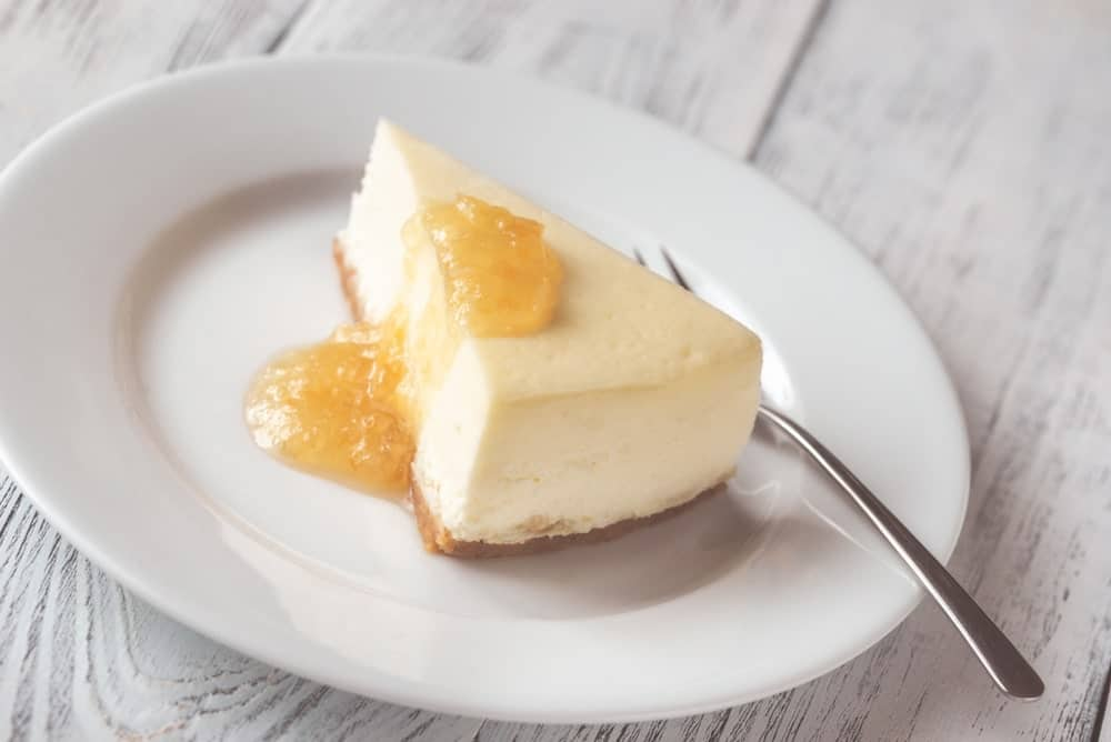 A Slice of Chicago Style Cheesecake