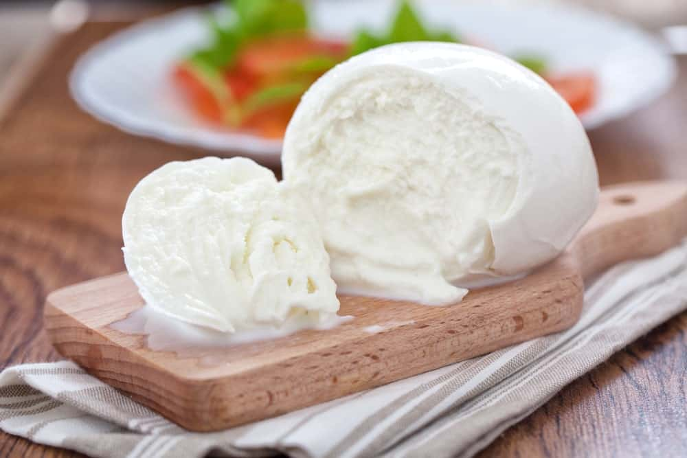Buffalo Mozzarella Cheese on a Cheeseboard