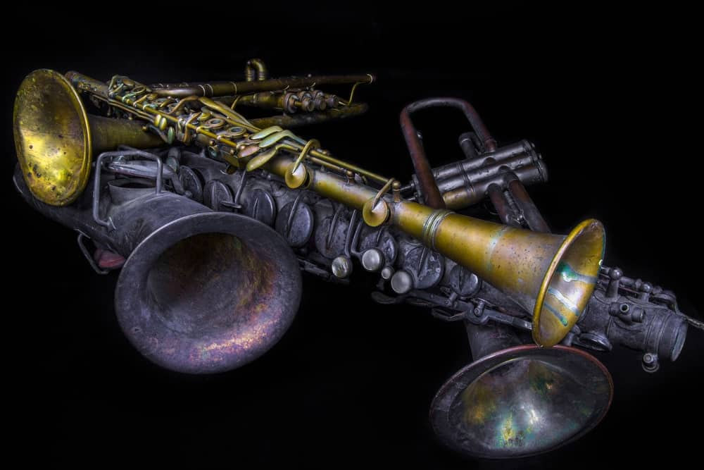 An old C-melody saxophone